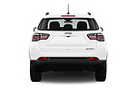Straight rear view of a 2018 Jeep Compass Sport 5 Door SUV stock images