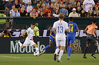 PHILADELPHIA, PENNSYLVANIA - JUNE 30: Christian Pulisic #10 during the 2019 CONCACAF Gold Cup quarterfinal match between the United States and Curacao at Lincoln Financial Field on June 30, 2019 in Philadelphia, Pennsylvania.