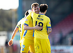 Inverness Caley v St Johnstone…08.04.17     SPFL    Tulloch Stadium<br />Liam Craig gets a hug from Paul Paton at full time<br />Picture by Graeme Hart.<br />Copyright Perthshire Picture Agency<br />Tel: 01738 623350  Mobile: 07990 594431