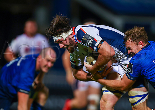16th November 2020; RDS Arena, Dublin, Leinster, Ireland; Guinness Pro 14 Rugby, Leinster versus Edinburgh; Ally Miller (Edinburgh) attempts to break through the tackles