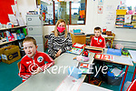 Derryquay NS students in the class room with their teacher Kara Walsh.