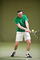 March 7, 2015, Netherlands, Hilversum, Tulip Tennis Center, NOVK, Michel Bouwmeester (NED)<br /> Photo: Tennisimages/Henk Koster