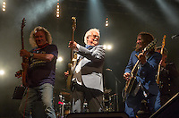 Photo by © Stephen Daniels 13/06/2015-----<br /> Rock 'N' Horse Power Concert at Hurtwood Park Polo Club, Ewhurst, Surrey for Prostate Cancer UK.<br /> L/R Geoff Whitehorn, Jim Cregan, Ben Mills