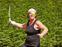 Netherlands, Amstelveen, August 22, 2015, Tennis,  National Veteran Championships, NVK, TV de Kegel,  Lady's 40+, Eva Haslinghuis<br /> Photo: Tennisimages/Henk Koster