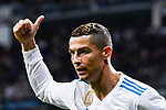 Cristiano Ronaldo of Real Madrid gestures during the La Liga 2017-18 match between Real Madrid and UD Las Palmas at Estadio Santiago Bernabeu on November 05 2017 in Madrid, Spain. Photo by Diego Gonzalez / Power Sport Images