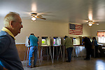 May 6, 2008. Bynum, NC.. With the close North Carolina primary battle between Senators Hillary Clinton and Barack Obama, voters hit the polls to try and bring closure to this highly contested state and divide the delegates between the 2 candidates..A polling station at a Ruritan hall in Bynum, NC.