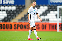 Mike van der Hoorn of Swansea City during the Sky Bet Championship match between Swansea City and Bristol City at the Liberty Stadium in Swansea, Wales, UK. Saturday 18 July 2020