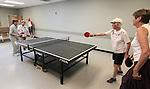 From left, Louisa Vanderlinden, Mildred Swiec, Shirley Lang and Betty Young play ping pong at the Carson City Senior Citizen Center in Carson City, Nev., on Wednesday, Aug. 22, 2012..Photo by Cathleen Allison