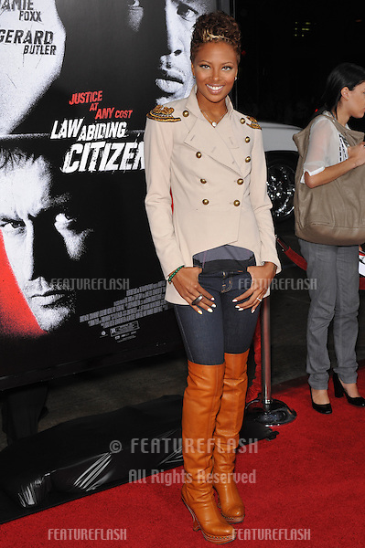 """Eva Marcille (formerly Eva Pigford) at the Los Angeles premiere of """"Law Abiding Citizen"""" at Grauman's Chinese Theatre, Hollywood..October 6, 2009  Los Angeles, CA.Picture: Paul Smith / Featureflash"""