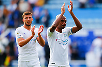 11th September 2021; King Power Stadium, Leicester, Leicestershire, England;  Premier League Football, Leicester City versus Manchester City; Fernandinho  of Manchester City applauds his team's travelling supporters after the final whistle