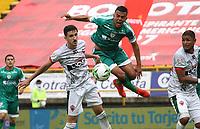 BOGOTÁ- COLOMBIA, 16-10-2021:La Equidad y Patriotas Boyacá en partido por la fecha 14 como parte de la Liga BetPlay DIMAYOR II 2021 jugado en el estadio Metropolitano de Techo de la ciudad de Bogotá. / La Equidad and Patriotas Boyaca in match for the date 14 as part of the BetPlay DIMAYOR League II 2021 played at Metropolitano de Techo stadium in Bogota city. Photo: VizzorImage / Felipe Caicedo / Staff