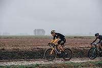 3rd October 2021, Paris–Roubaix Mens Cycling tour;  Pascal Eenkhoorn during the Paris–Roubaix which is famous for its uneven cobblestone course.
