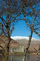 Schottland, Argyll and Bute, See Loch Awe, Burg Kilchurn Castle, Europa, Grossbritannien, 16.02.2010; HF; <br /> <br /> <br /> (Bildtechnik: sRGB, <br /> 72.00 MByte vorhanden)<br /> <br /> Engl.: Europe, Great Britain, Scotland, Argyll and Bute, Loch Awe, lake, Kilchurn Castle, architecture, February 2010
