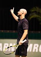 Rotterdam, The Netherlands, 2 march  2021, ABNAMRO World Tennis Tournament, Ahoy, First round match: Adrian Mannarino (FRA).<br /> <br /> Photo: www.tennisimages.com/henkkoster