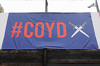 General view of a #COYD (Come On You Daggers) banner during Dagenham & Redbridge vs Woking, Vanarama National League Football at the Chigwell Construction Stadium on 3rd May 2021