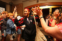 8 April 2008: Stanford Cardinal Rosalyn Gold-Onwude during Stanford's send off party before their 64-48 loss against the Tennessee Lady Volunteers in the 2008 NCAA Division I Women's Basketball Final Four championship game at the St. Pete Times Forum Arena in Tampa Bay, FL.
