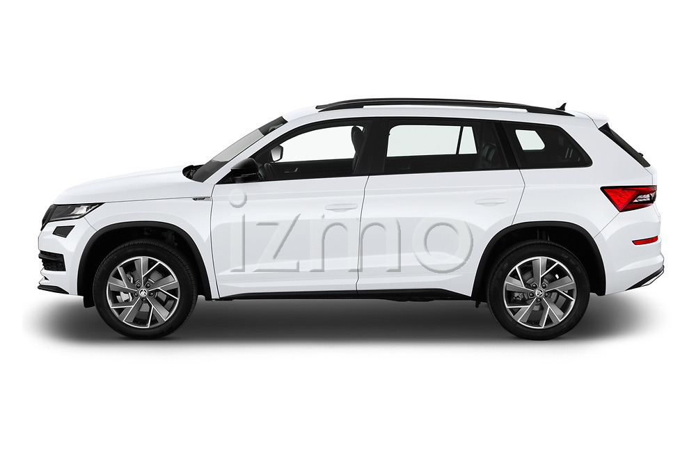 Car Driver side profile view of a 2019 Skoda Kodiaq Sportline 5 Door SUV Side View