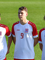 Jayson Videira Pereira (9) of Luxemburg pictured during a soccer game between the national teams Under17 Youth teams of  Norway and Luxemburg on day 2 in the Qualifying round in group 3 on saturday 9 th of October 2020  in Tubize , Belgium . PHOTO SPORTPIX   DAVID CATRY