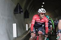 Jasper Stuyven (BEL/Trek-Segafredo) leaving the tunnel on the highest point of the course: the Passo Del Turchino (532m)<br /> <br /> 108th Milano - Sanremo 2017
