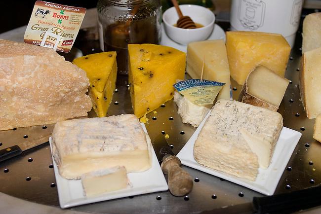 Assorted Cheeses, Checchino Restaurant, Rome, Italy