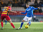 Partick Thistle v St Johnstone…23.02.16   SPFL   Firhill, Glasgow<br />David Wotherspoon is tackled by Frederic Frans<br />Picture by Graeme Hart.<br />Copyright Perthshire Picture Agency<br />Tel: 01738 623350  Mobile: 07990 594431