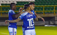 TUNJA - COLOMBIA, 4-12-202.Ricardo Márquez de Millonarios  celebra gol a Patriotas Boyacá ./Ricardo Marquezplayer of Millonarios celebrates after scoring a goal agaisnt of Patriotas Boyaca during the 2st date for the BetPlay DIMAYOR Liguilla 2020 played at La Independencia  Stadium in Tunja. / Photos: VizzorImage / Edward Leguizamón / Contribuidor
