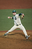 Charlotte 49ers relief pitcher Jackson Boss (38) in action against the Tennessee Volunteers at Hayes Stadium on March 9, 2021 in Charlotte, North Carolina. The 49ers defeated the Volunteers 9-0. (Brian Westerholt/Four Seam Images)