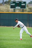 Nicholas Fajardo (2) of Jordan High School in Durham, North Carolina during the Under Armour All-American Pre-Season Tournament presented by Baseball Factory on January 15, 2017 at Sloan Park in Mesa, Arizona.  (Zac Lucy/MJP/Four Seam Images)