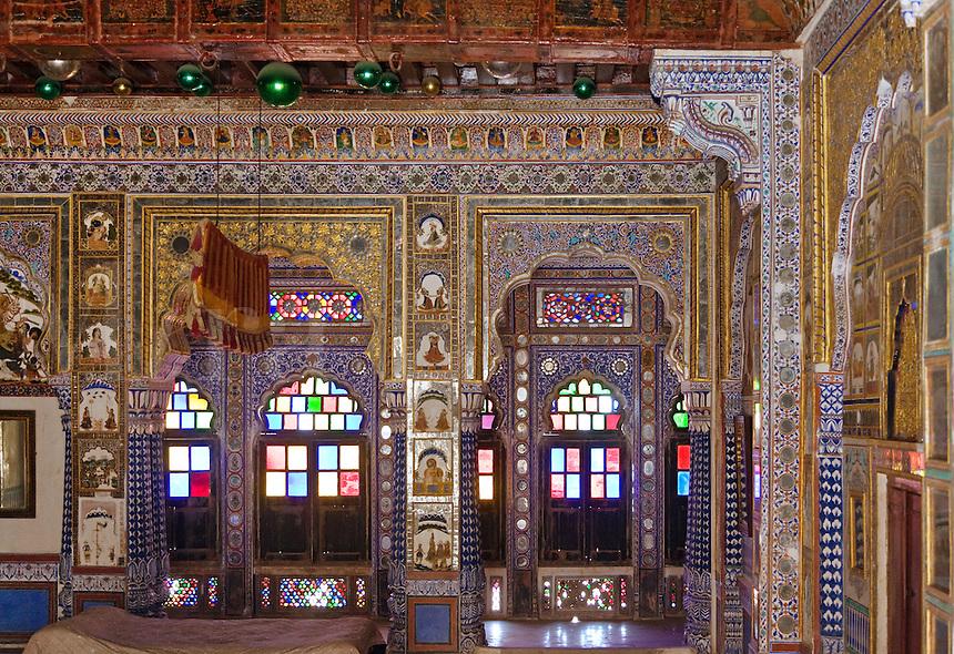 The SUKH MAHAL or PLEASURE PALACE of MEHERANGARH FORT built by Maharaja Man Singh in 1806 - RAJASTHAN, INDIA