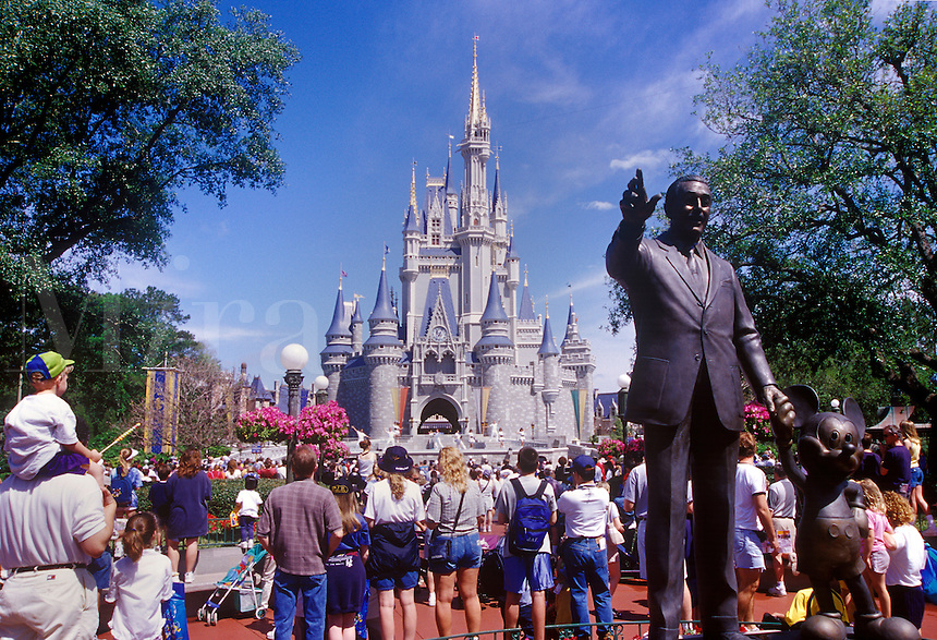 Walt Diseny statue and magical Kingdom, Orlando, FL, USA