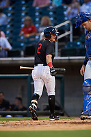 Birmingham Barons shortstop Danny Mendick (2) walks back to the dugout during a game against the Tennessee Smokies on August 16, 2018 at Regions FIeld in Birmingham, Alabama.  Tennessee defeated Birmingham 11-1.  (Mike Janes/Four Seam Images)