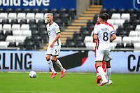 Mike van der Hoorn of Swansea City in action during the Sky Bet Championship match between Swansea City and Bristol City at the Liberty Stadium in Swansea, Wales, UK. Saturday 18 July 2020