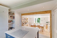 BNPS.co.uk (01202 558833)<br /> Pic: Mullucks/BNPS<br /> <br /> Pictured: Kitchen and dining room. <br /> <br /> Time for a change...<br /> <br /> A former granary with an impressive clock tower on top is on the market for £1.45m.<br /> <br /> The new owners of the aptly-named The Clockhouse will have a tall order adjusting this timepiece when the clocks go back at the end of October.<br /> <br /> The Grade II listed property has a 10ft central wooden clock tower which is believed to date back to the construction of the original granary building in the Georgian era.
