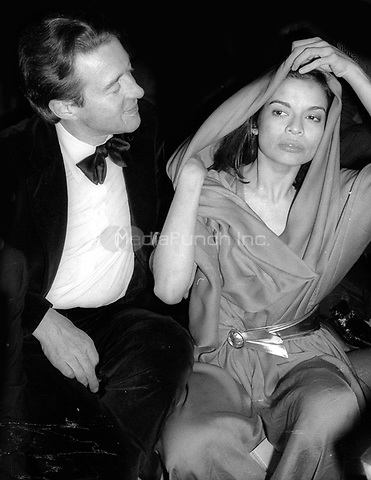 1977 <br /> New York City<br /> Halston Bianca Jagger<br /> at Studio 54<br /> Credit: Adam Scull-PHOTOlink/MediaPunch