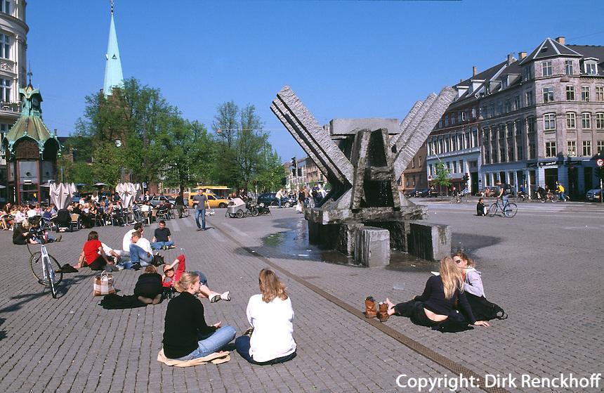 Daenemark, auf dem Platz Sankt Hans Torv  Kopenhagen