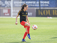 20190227 - LARNACA , CYPRUS :  Belgian Tessa Wullaert pictured during a women's soccer game between the Belgian Red Flames and Slovakia , on Wednesday 27 February 2019 at the AEK Arena in Larnaca , Cyprus . This is the first game in group C for Belgium during the Cyprus Womens Cup 2019 , a prestigious women soccer tournament as a preparation on the Uefa Women's Euro 2021 qualification duels. PHOTO SPORTPIX.BE | DAVID CATRY