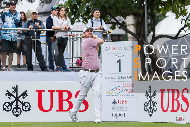 Casey O'toole of the United States tees off during the day two of UBS Hong Kong Open 2017 at the Hong Kong Golf Club on 24 November 2017, in Hong Kong, Hong Kong. Photo by Yu Chun Christopher Wong / Power Sport Images