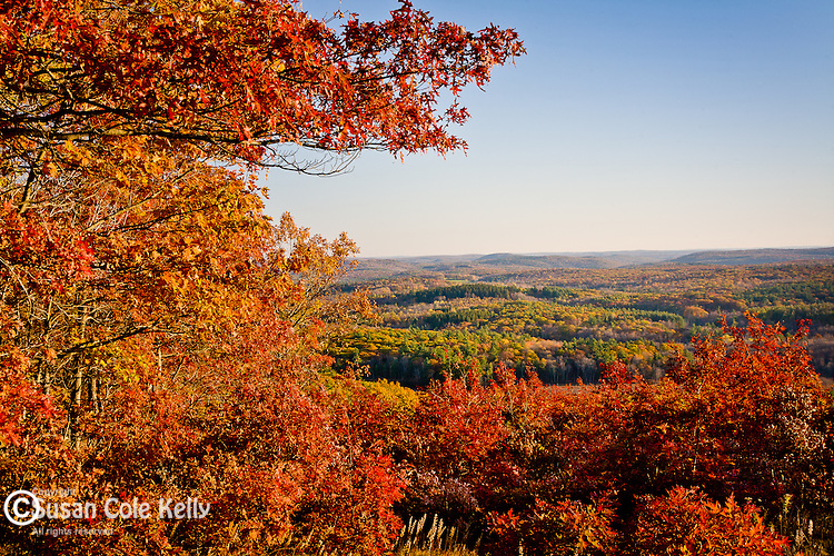 Fall foliage in the Litchfield Hills, CT, USA