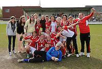 Ladies Desselgem - FC Meulebeke :<br /> <br /> feest bij de kampioenstitel in 1e Provinciale bij Ladies Desselgem<br /> <br /> foto VDB / BART VANDENBROUCKE