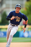 Scranton/Wilkes-Barre RailRiders right fielder Aaron Judge (99) running the bases during a game against the Buffalo Bisons on July 2, 2016 at Coca-Cola Field in Buffalo, New York.  Scranton defeated Buffalo 5-1.  (Mike Janes/Four Seam Images)
