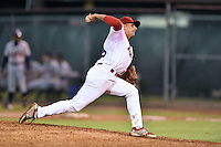 Johnson City Cardinals starting pitcher Steven Farinaro #29 delivers a pitch during a game against the Danville Braves at Howard Johnson Field September 4, 2014 in Johnson City, Tennessee. The Braves defeated the Cardinals 6-1. (Tony Farlow/Four Seam Images)