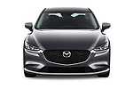 Car photography straight front view of a 2018 Mazda Mazda6 Dynamique 4 Door Sedan Front View