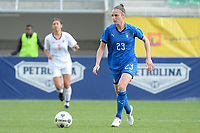20190304 - LARNACA , CYPRUS : Italian defender Cecilia Salvai pictured during a women's soccer game between Italy and Thailand , on Monday 4 March 2019 at the AEK Arena in Larnaca , Cyprus . This is the third game in group B for both teams during the Cyprus Womens Cup 2019 , a prestigious women soccer tournament as a preparation on the FIFA Women's World Cup 2019 in France . Banner Cyprus in your heart ! PHOTO SPORTPIX.BE | STIJN AUDOOREN
