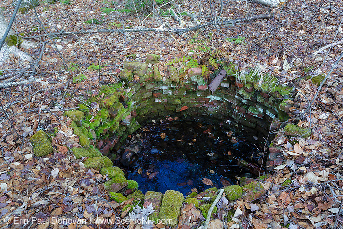 This is possibly remnants of the old Flume Reservation in Lincoln, New Hampshire. This area is near today's Flume Gorge Visitor area.