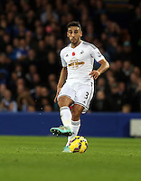Liverpool, UK. Saturday 01 November 2014<br /> Pictured: Neil Taylor of Swansea<br /> Re: Premier League Everton v Swansea City FC at Goodison Park, Liverpool, Merseyside, UK.