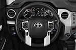 Car pictures of steering wheel view of a 2020 Toyota Tundra SR5 5.7L Crew Max 4WD Short Bed 4 Door Pick Up