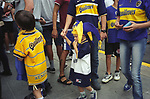 Buenos Aires Argentina South America young football fan at Boca Junior stadium BsAs 20002 2000s