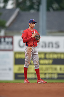 Williamsport Crosscutters shortstop Nick Maton (6) during a game against the Batavia Muckdogs on August 3, 2017 at Dwyer Stadium in Batavia, New York.  Williamsport defeated Batavia 2-1.  (Mike Janes/Four Seam Images)