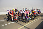 The grupetto on the final climb of Stage 3 of the 2021 UAE Tour running 166km from Al Ain to Jebel Hafeet, Abu Dhabi, UAE. 23rd February 2021.  <br /> Picture: Eoin Clarke | Cyclefile<br /> <br /> All photos usage must carry mandatory copyright credit (© Cyclefile | Eoin Clarke)