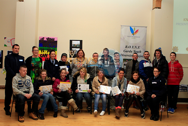 Boyne Garda Youth Project Awards in the Holy Family Community Centre...Photo NEWSFILE/Jenny Matthews..(Photo credit should read Jenny Matthews/NEWSFILE)